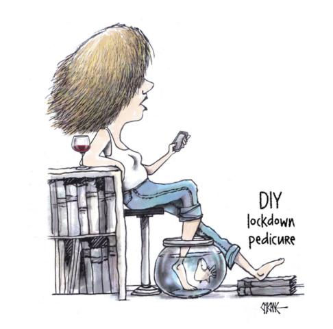 DIY lockdown Pedicure Cartoon by Chicane