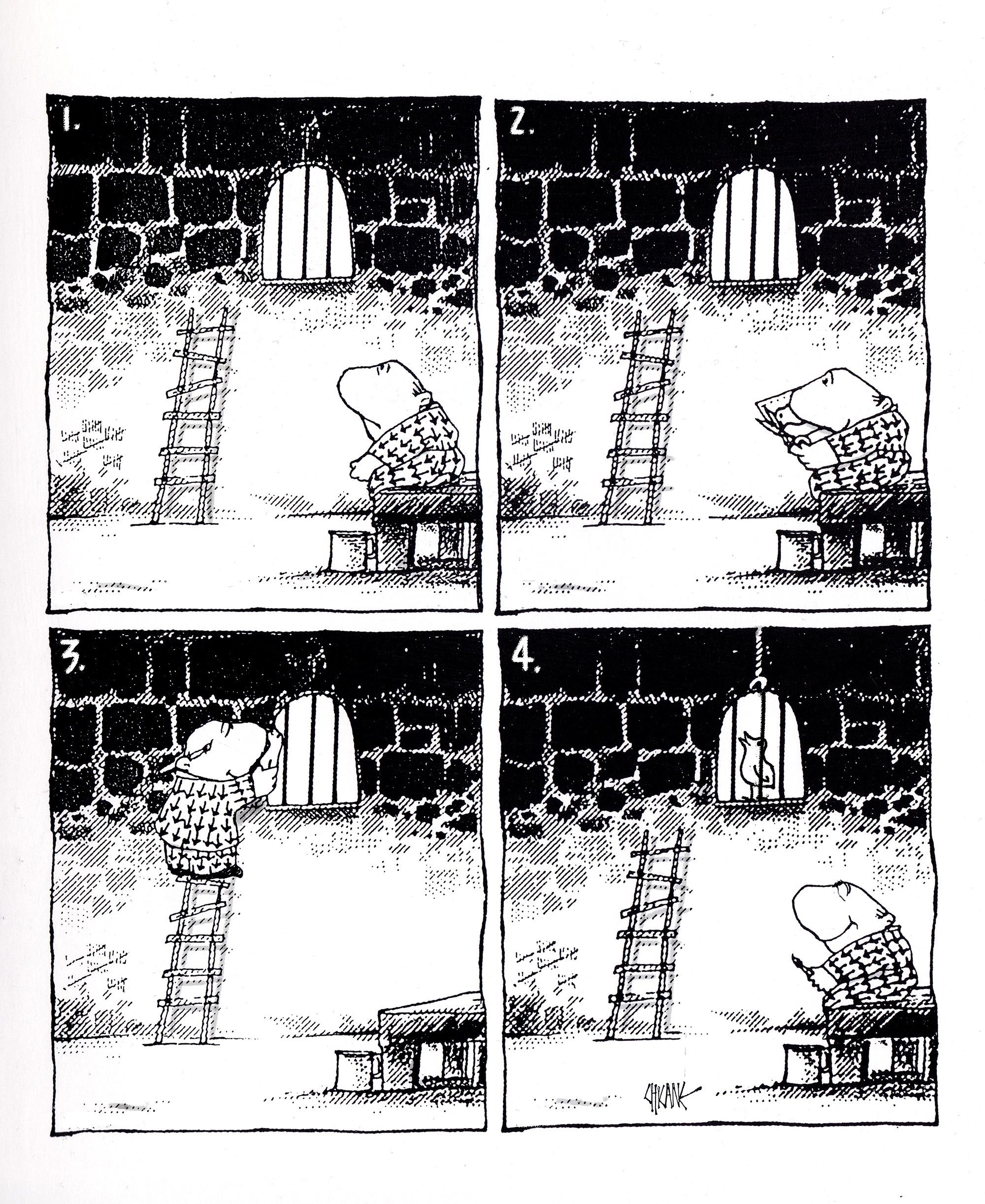 Jailbird cartoon by Chicane