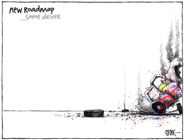Roadmap to recovery cartoon by Chicane