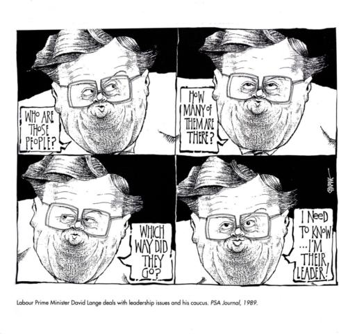 David Lange Cartoon by Chicane