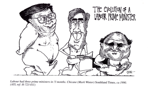 Evolution of a Labour Prime Minister, cartoon by Chicane