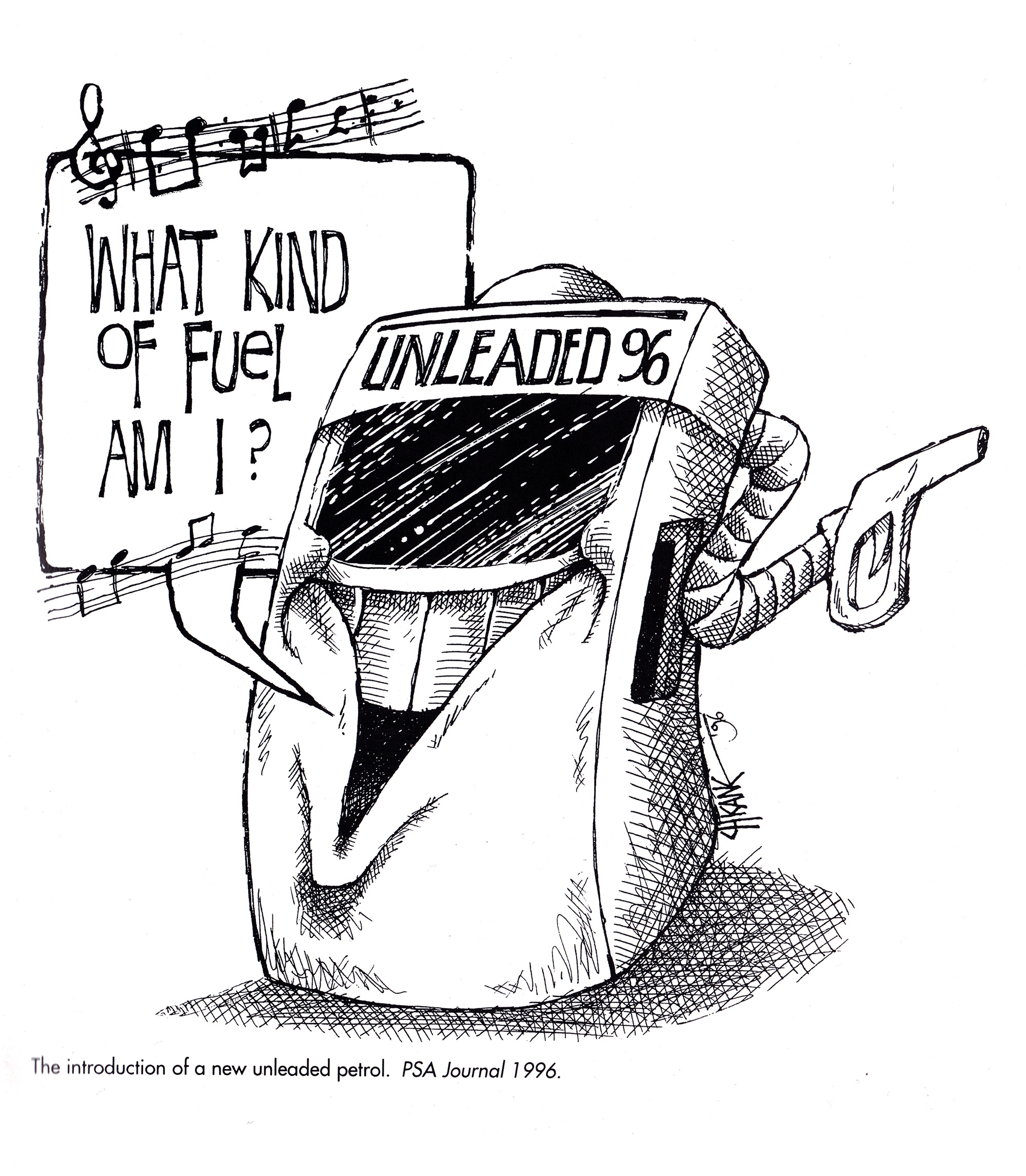 Unleaded fuel cartoon by Chicane