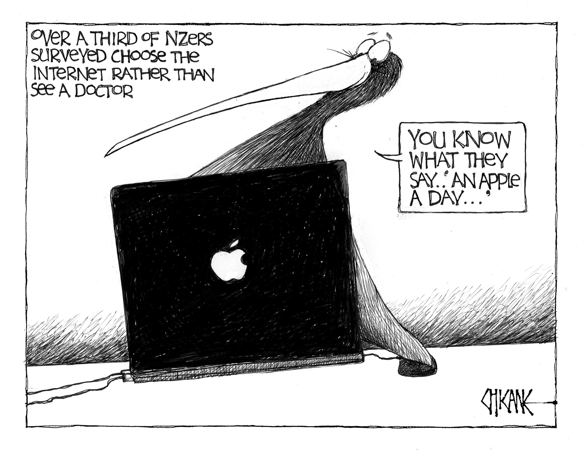 Internet doctor cartoon by Chicane