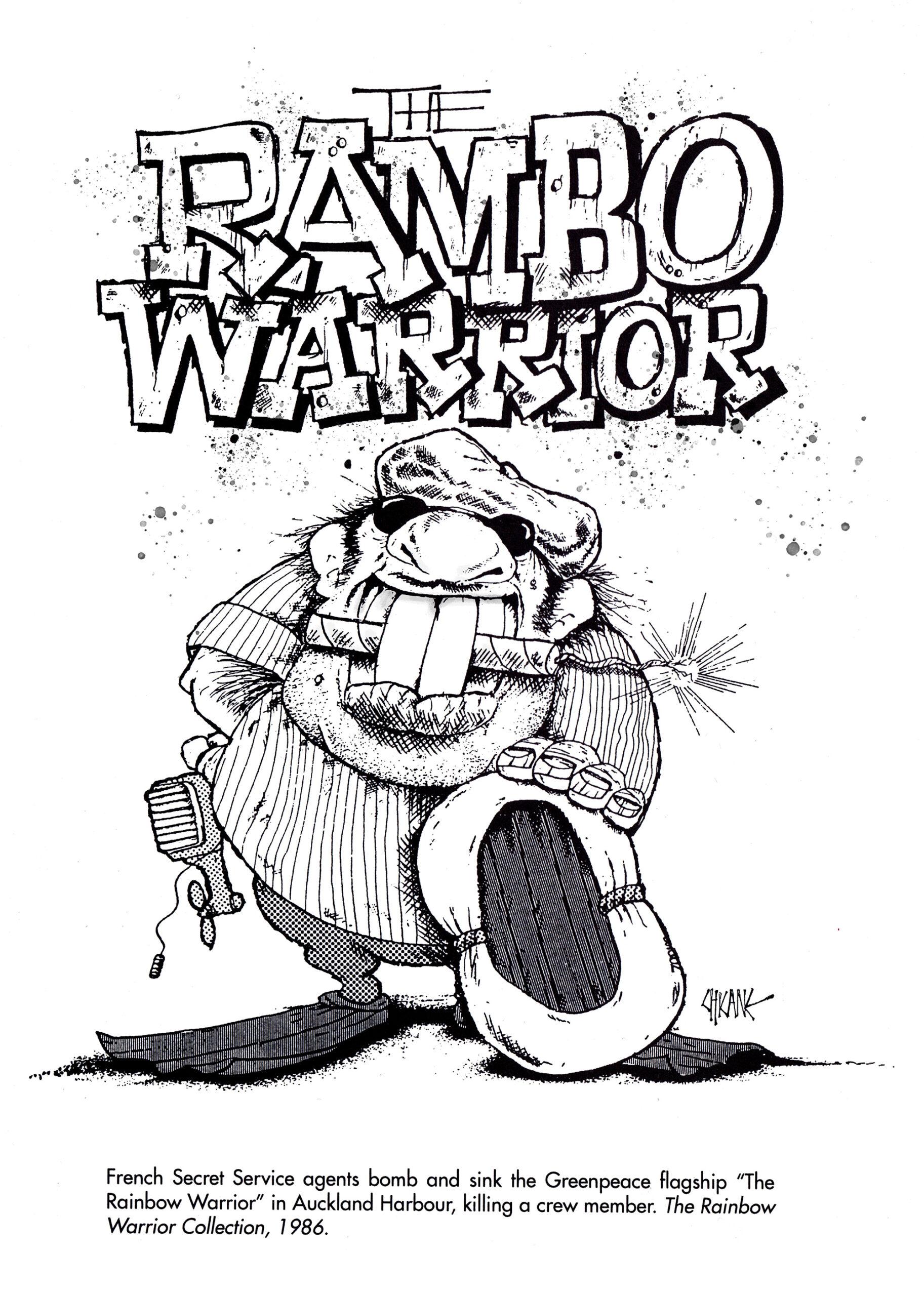 Rainbow Warrior Cartoon by Chicane