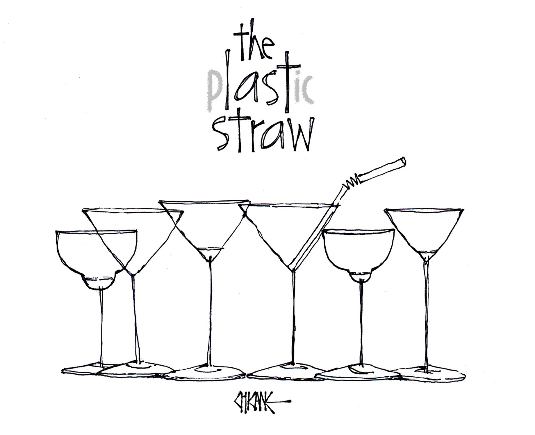 The Plastic Straw, The Last Straw cartoon by Chicane