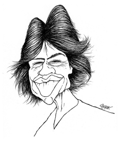 Mick Jagger Caricature by Chicane