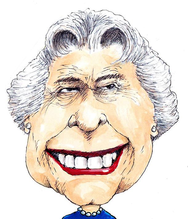 Caricature of Queen Elizabeth II  by Chicane