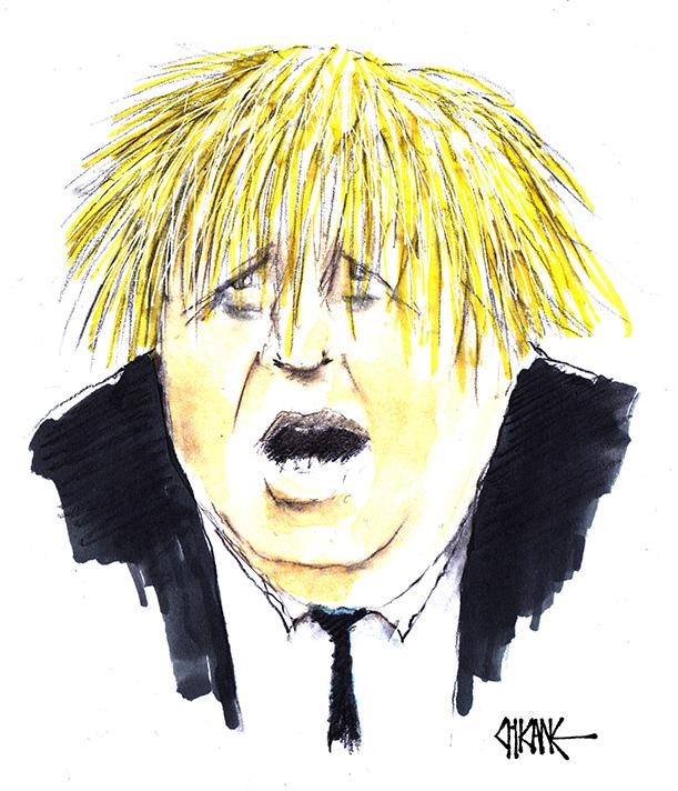 Caricature of Boris Johnson by Chicane