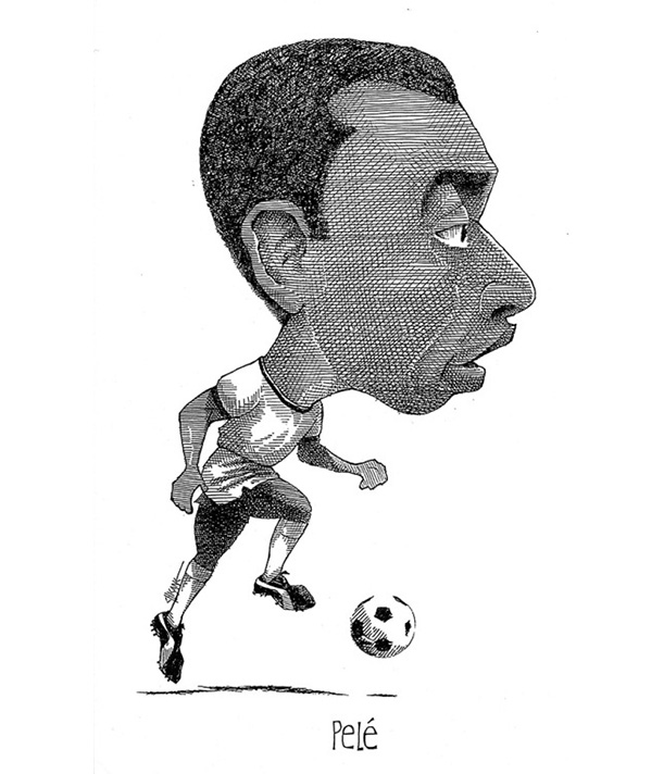 Caricature of Pele by Chicane