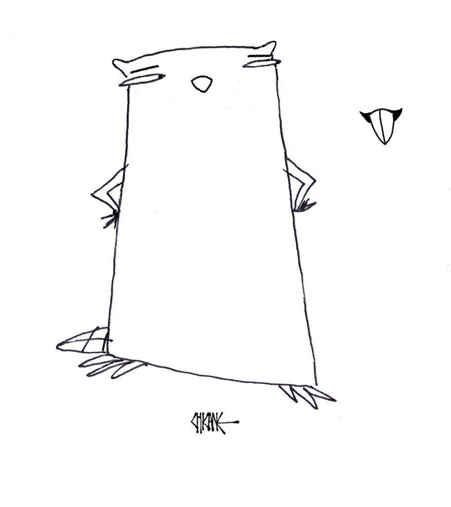 Beaver cartoon with silence theme, cartoon by Chicane