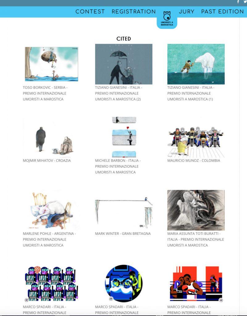 49th International Graphic Humour Exhibition, 'Umoristi A Marostica' Catalogue Page
